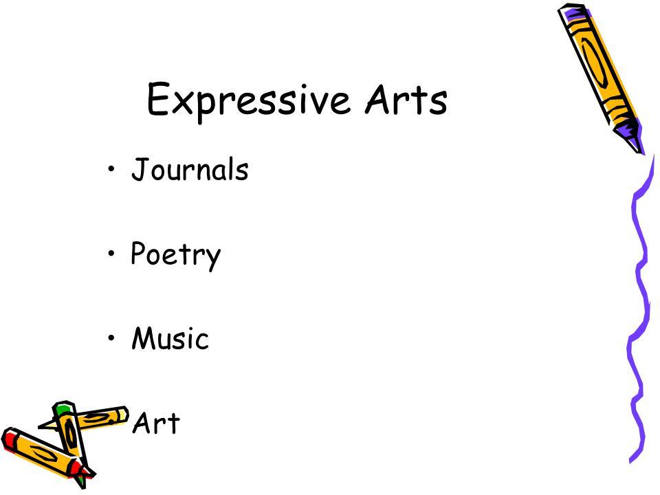 Expressive Arts Journals Poetry Music Art