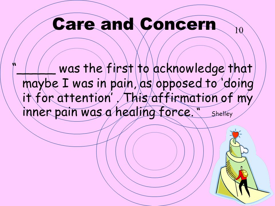 Care and Concern 10.