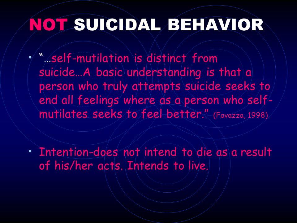 NOT SUICIDAL BEHAVIOR
