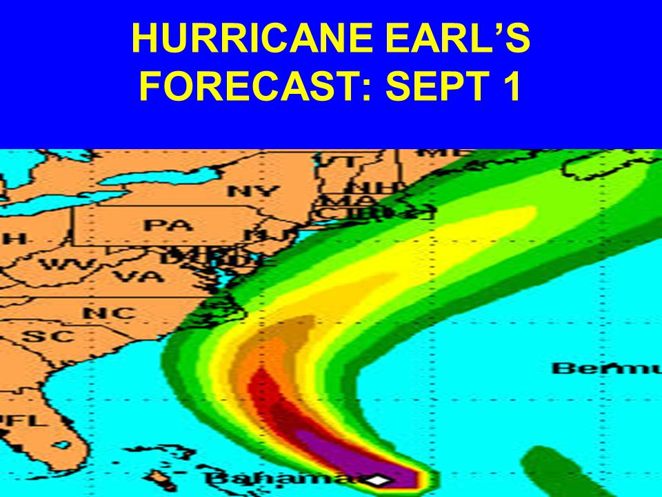 HURRICANE EARL'S FORECAST: SEPT 1