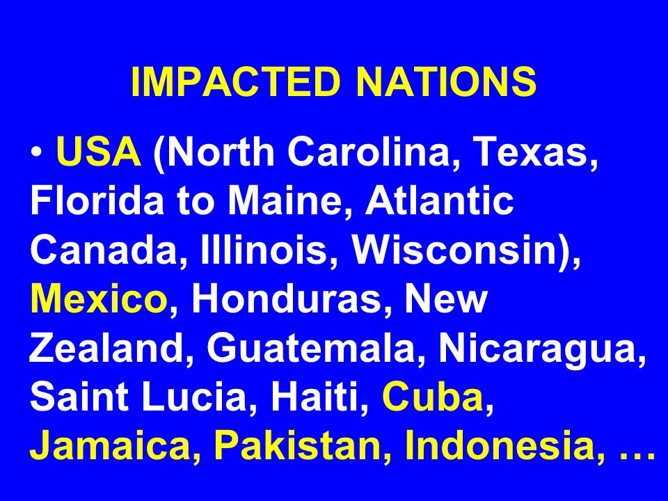 IMPACTED NATIONS