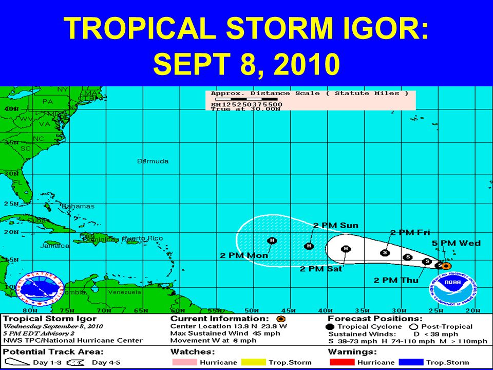 TROPICAL STORM IGOR: SEPT 8, 2010
