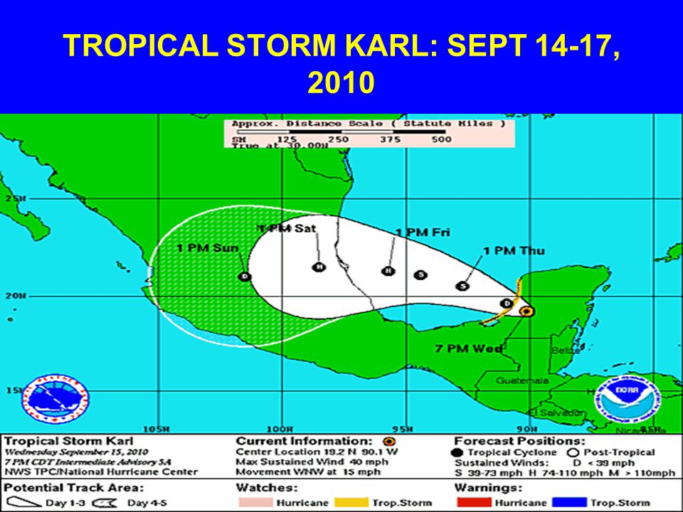 TROPICAL STORM KARL: SEPT 14-17, 2010