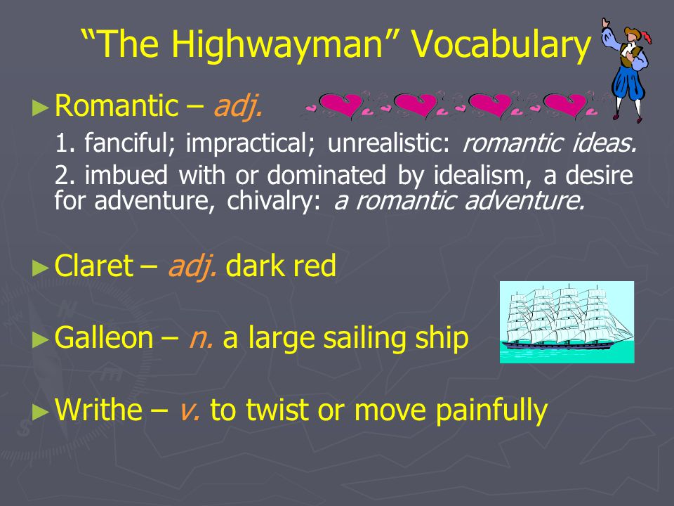 The Highwayman Vocabulary