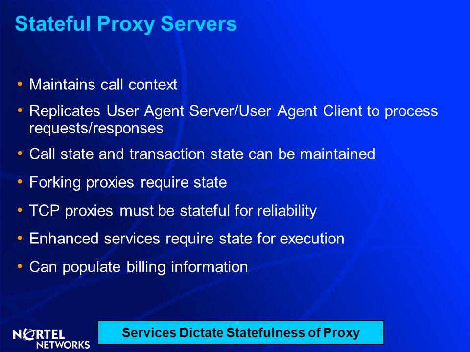 Stateful Proxy Servers
