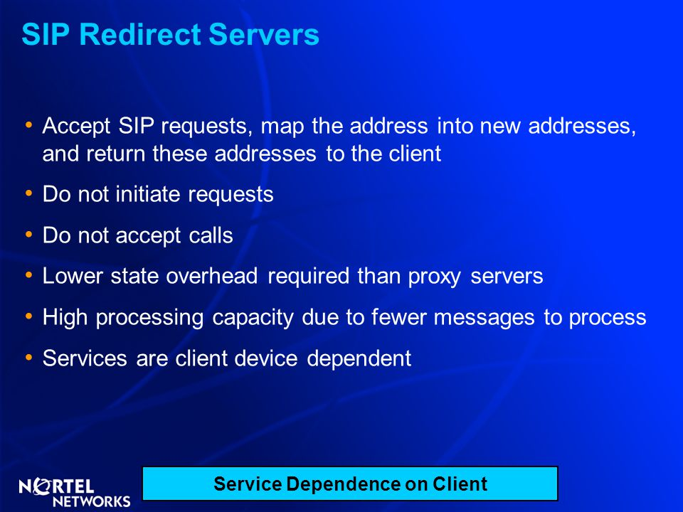 Service Dependence on Client