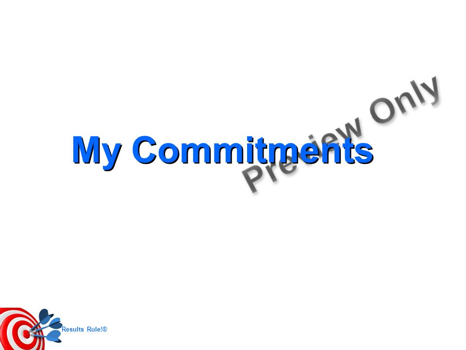 My Commitments