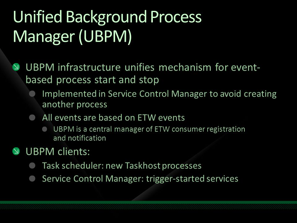 Unified Background Process Manager (UBPM)