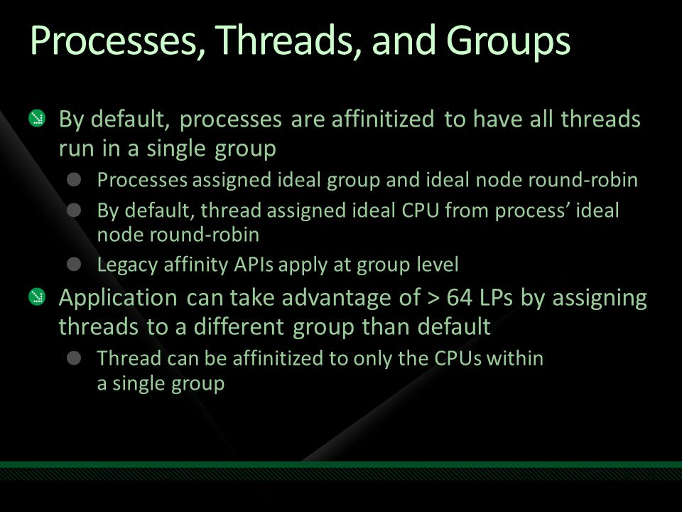 Processes, Threads, and Groups