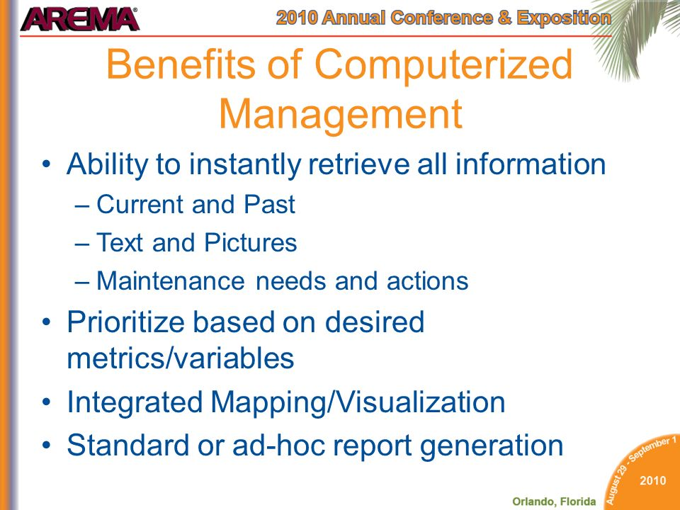 Benefits of Computerized Management