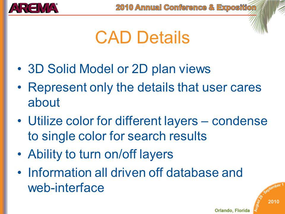 CAD Details 3D Solid Model or 2D plan views
