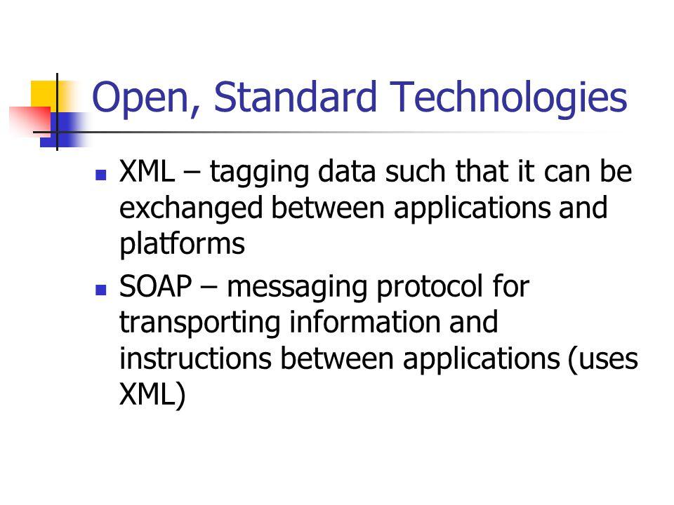 Open, Standard Technologies