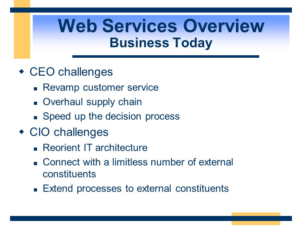Web Services Overview Business Today