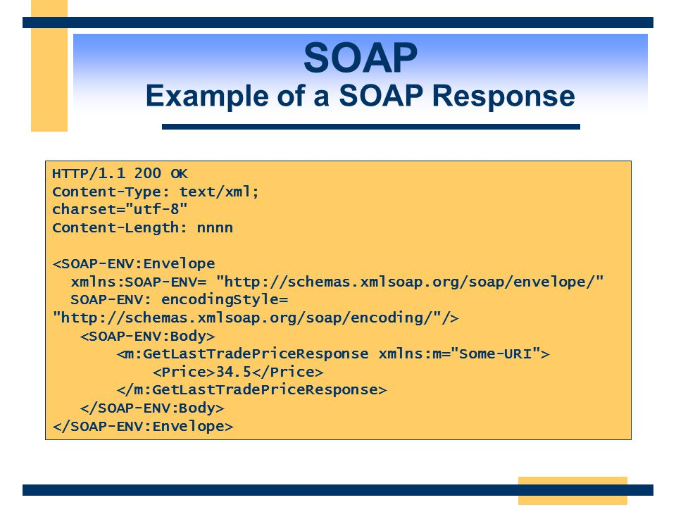 SOAP Example of a SOAP Response
