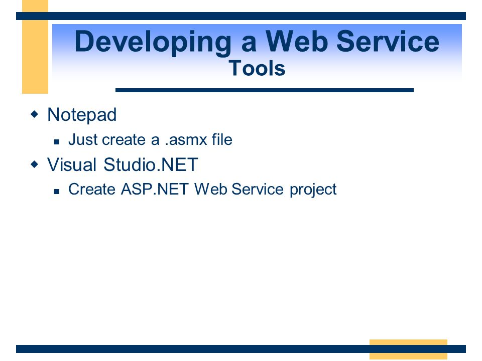 Developing a Web Service Tools