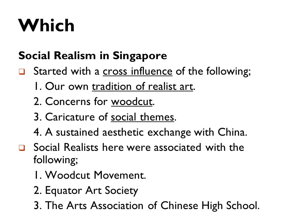 Which Social Realism in Singapore