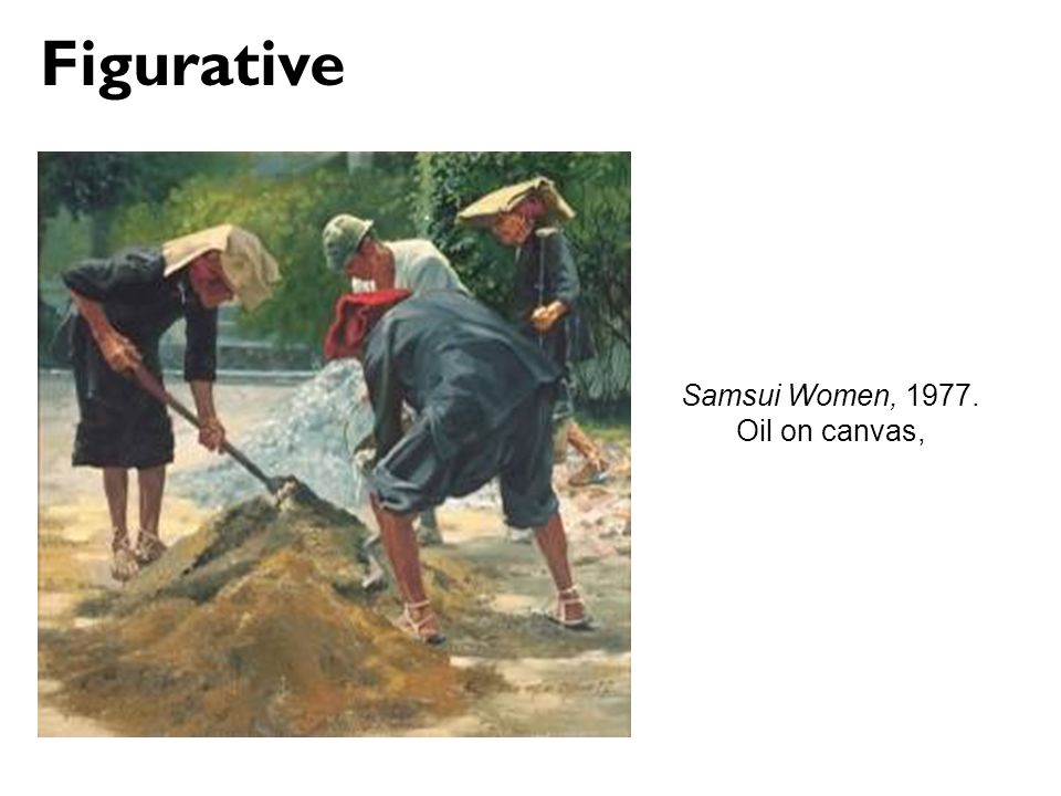 Figurative Samsui Women, Oil on canvas,