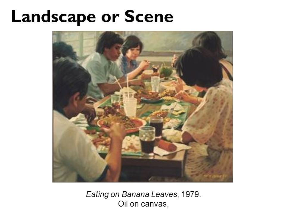 Eating on Banana Leaves, 1979.