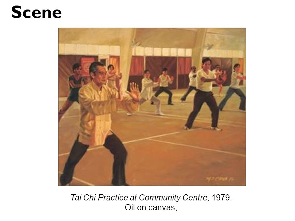 Tai Chi Practice at Community Centre, 1979.