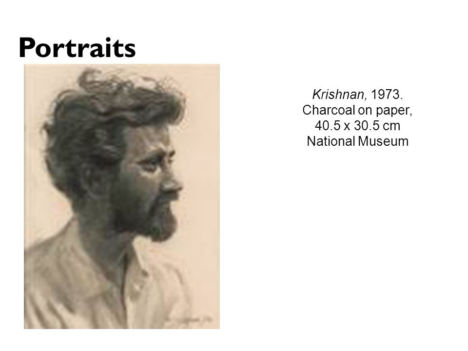 Portraits Krishnan, 1973. Charcoal on paper, 40.5 x 30.5 cm