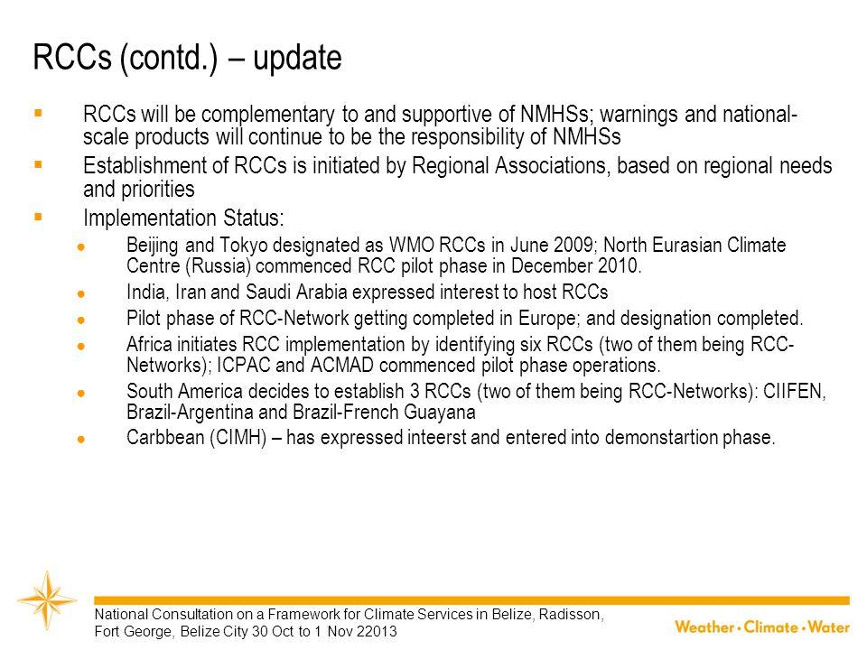 RCCs (contd.) – update