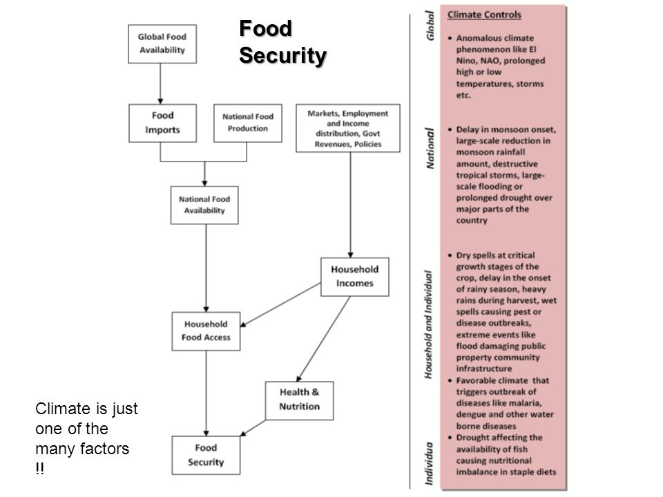 Food Security Climate is just one of the many factors !!