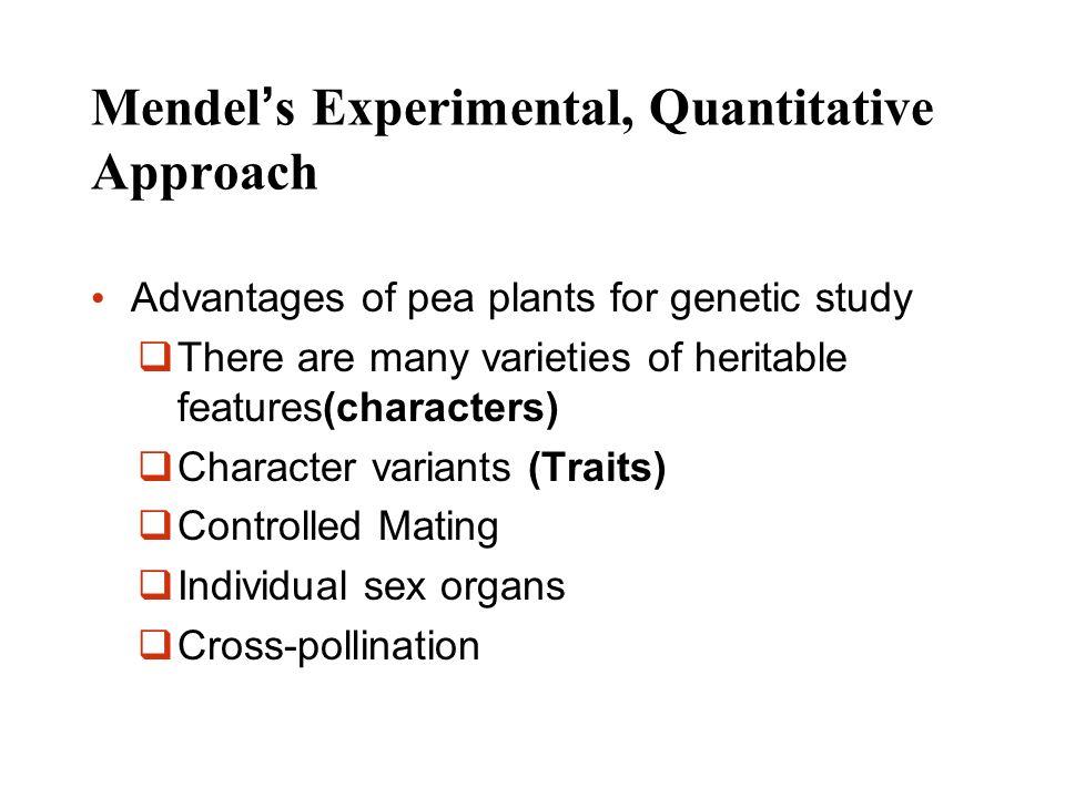 Mendel's Experimental, Quantitative Approach