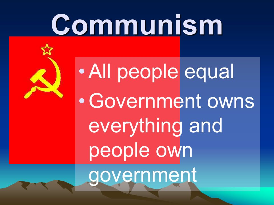 Communism All people equal