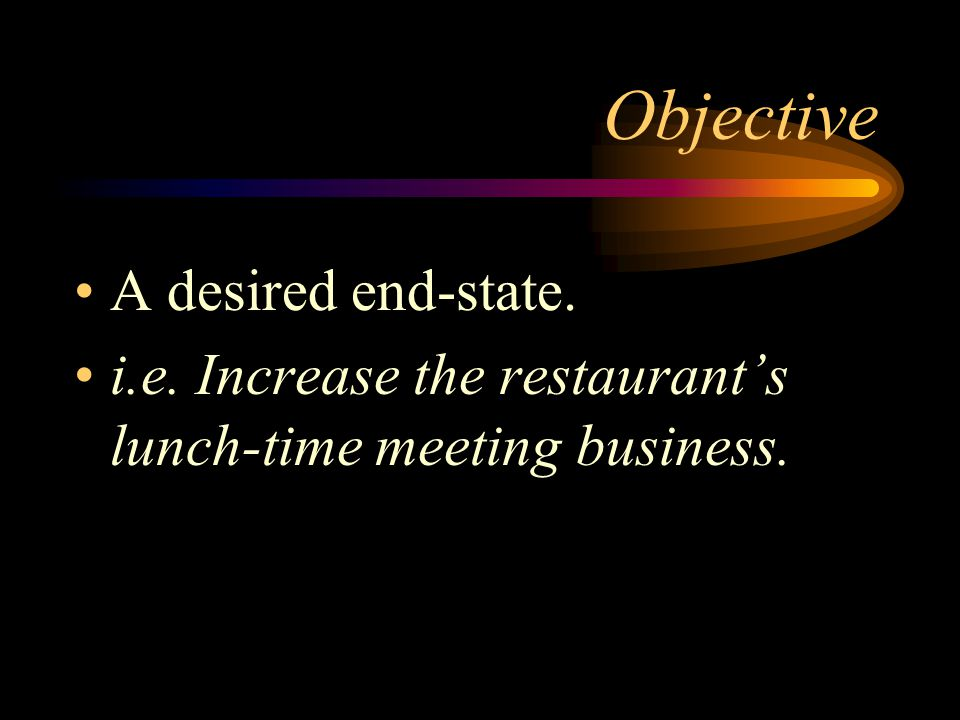 Objective A desired end-state.