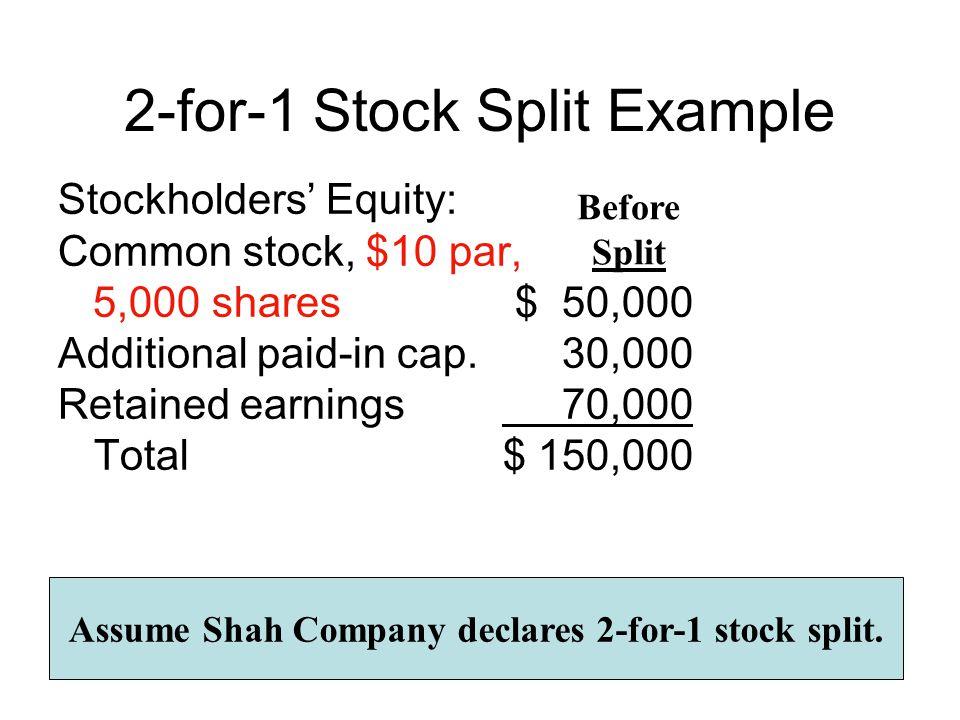 2-for-1 Stock Split Example