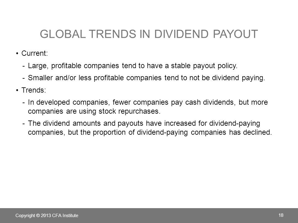 Global Trends in Dividend Payout