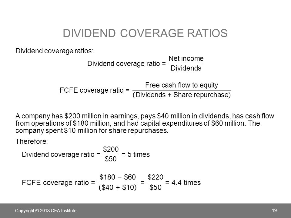 Dividend Coverage Ratios