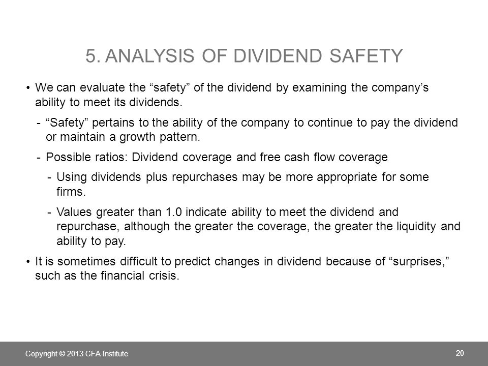 5. Analysis of Dividend Safety