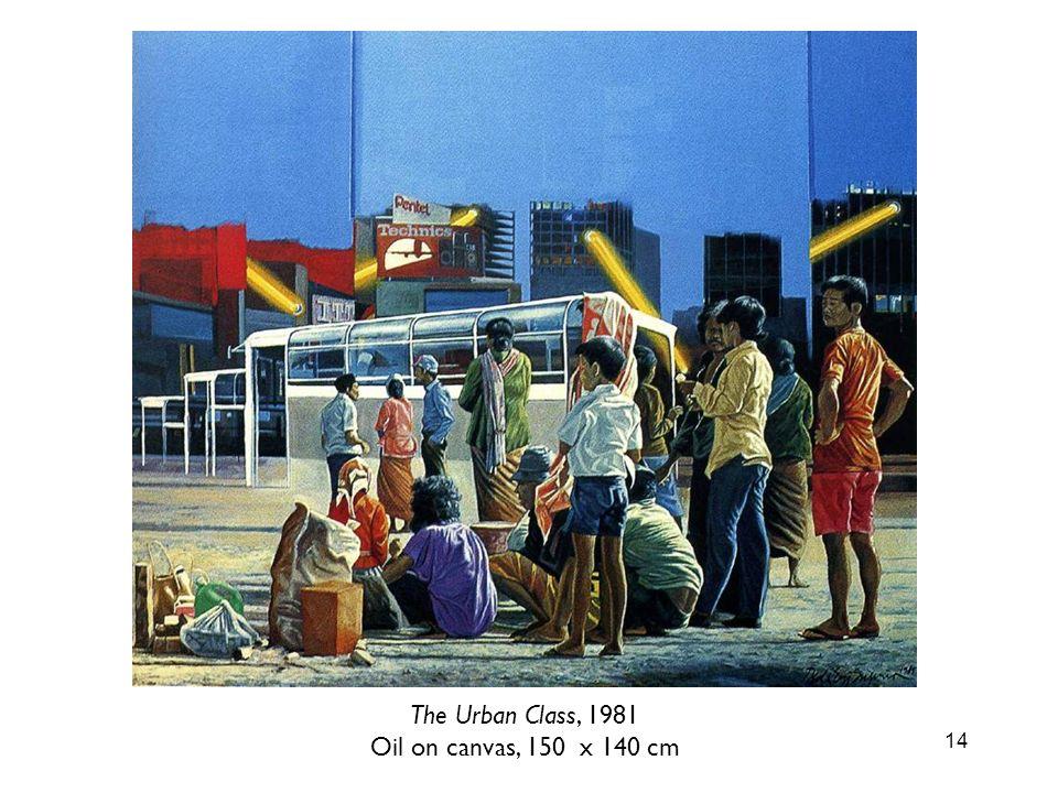 The Urban Class, 1981 Oil on canvas, 150 x 140 cm