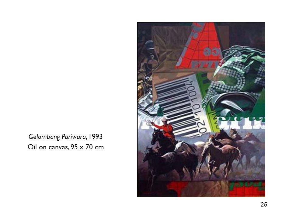 Gelombang Pariwara, 1993 Oil on canvas, 95 x 70 cm