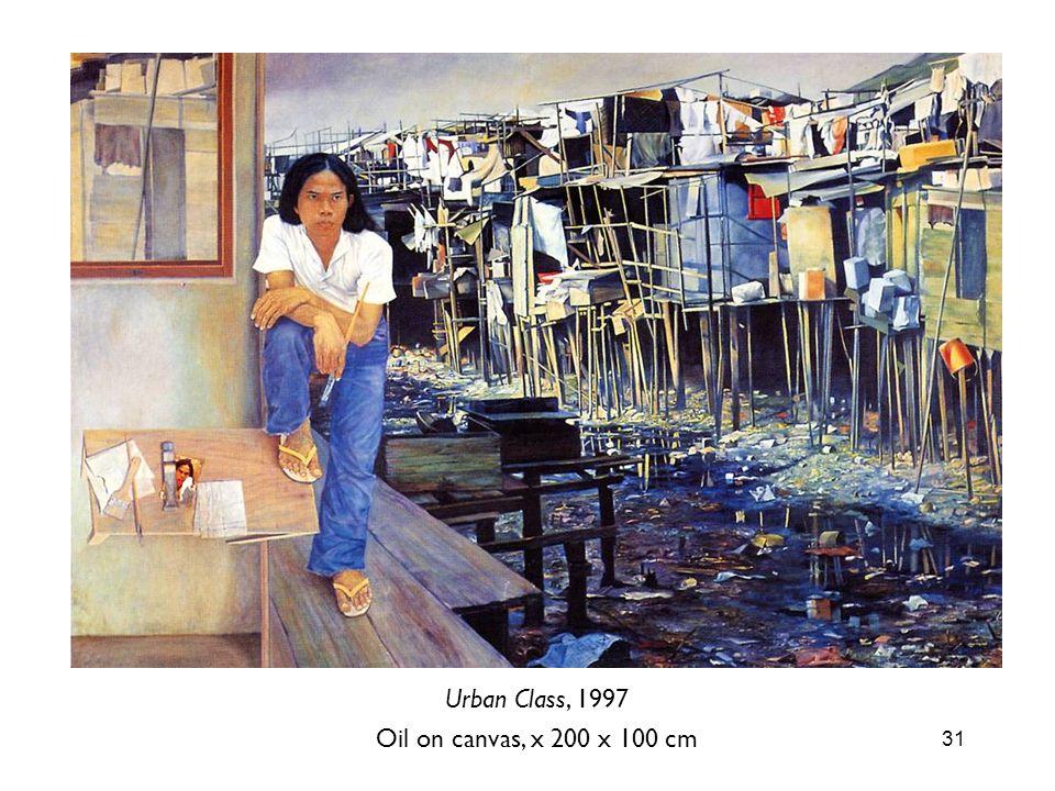 Urban Class, 1997 Oil on canvas, x 200 x 100 cm