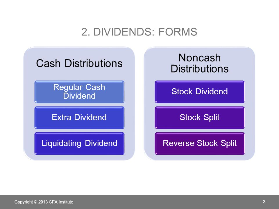 Noncash Distributions