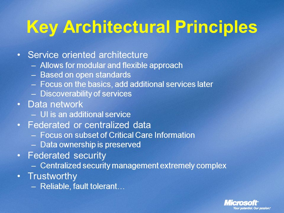 Key Architectural Principles