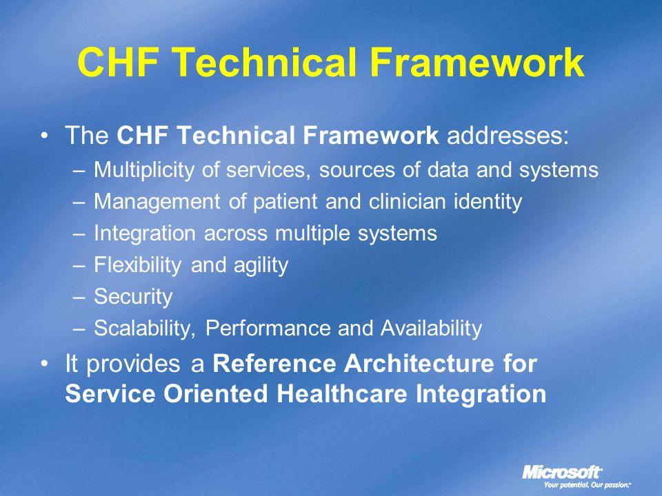 CHF Technical Framework