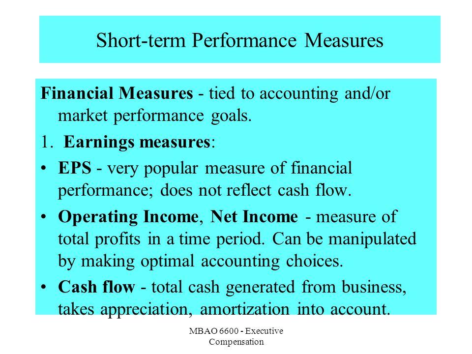 Short-term Performance Measures