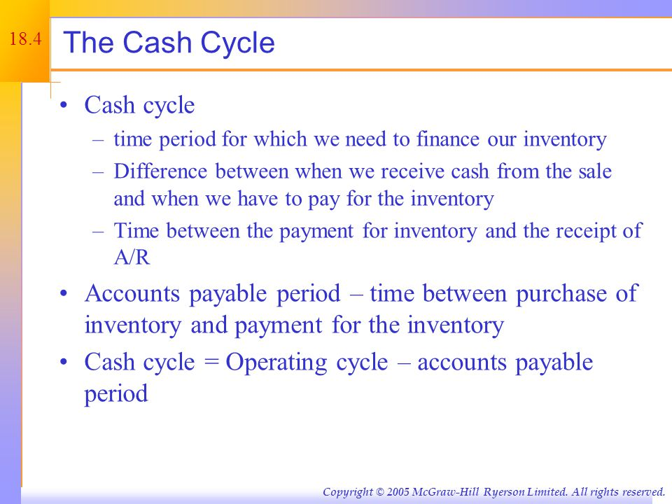 Figure 18.1 – Cash Flow Time Line