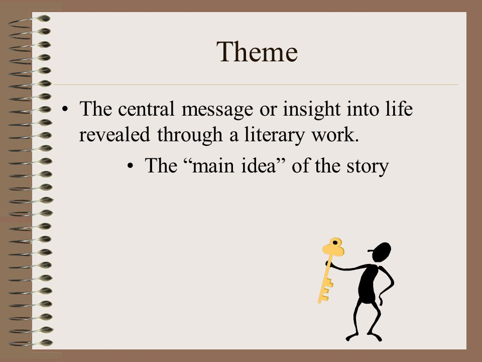 The main idea of the story