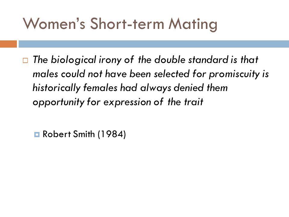 Women's Short-term Mating