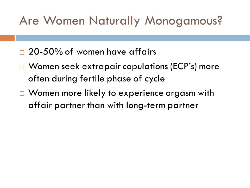 Are Women Naturally Monogamous
