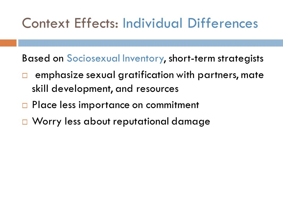 Context Effects: Individual Differences