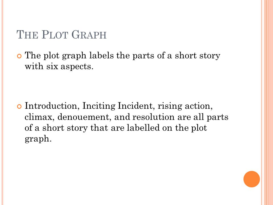 The Plot Graph The plot graph labels the parts of a short story with six aspects.