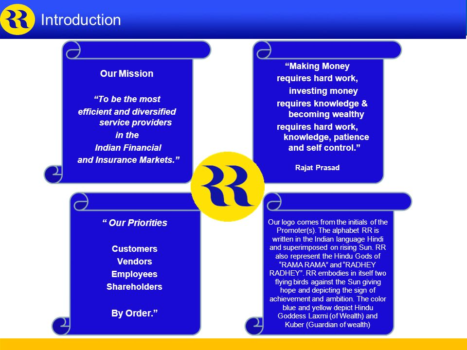Introduction Our Mission Our Priorities By Order. Making Money