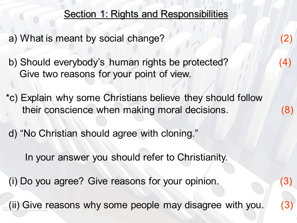 Section 1: Rights and Responsibilities