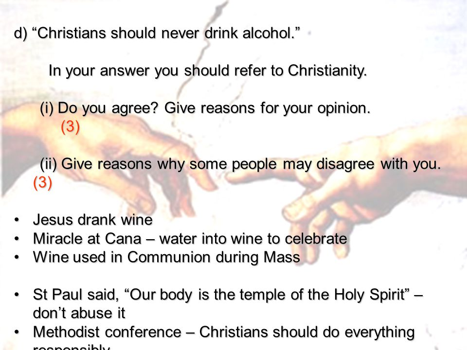 Why Do Christians Drink Alcohol