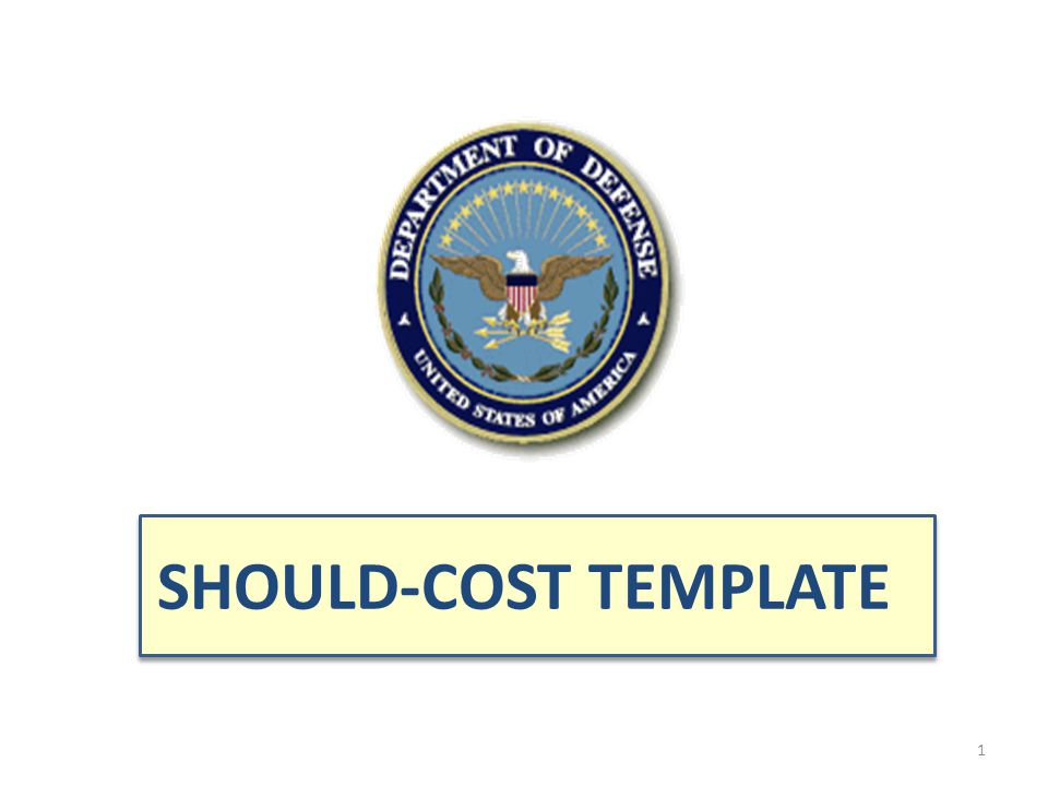 SHOULD-COST TEMPLATE
